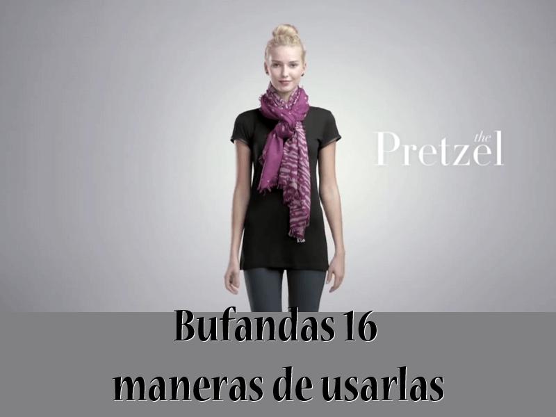 bufandas - 16 formas de usarlas