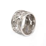 anillo aro filigrana diseño círculos - joyas en plata peruana