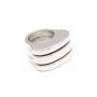 anillo tres tapas lisas - joyas en plata peruana