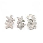 NATURE - aretes estrellita de mar / estrellita flor / florecitas de filigrana - diseñadora de joyas peruana