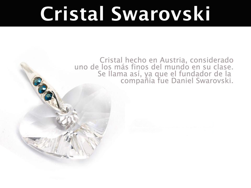 infografia cristales swarovski - joyas de plata peruana