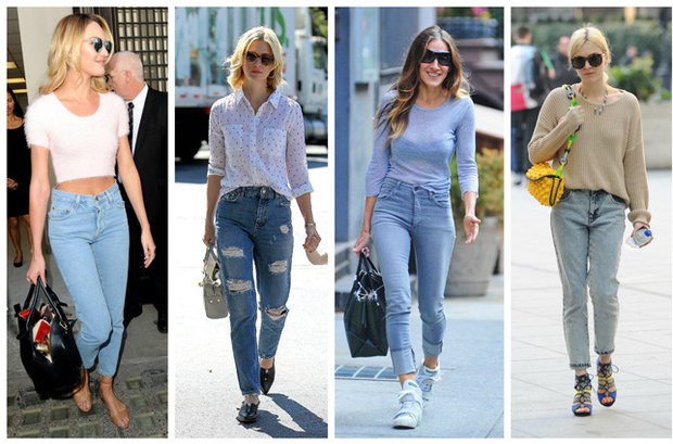 mom-jeans tendencia de los 90's