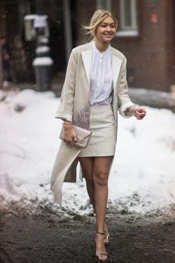 Gigi Hadid - Working style