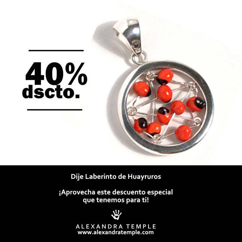promocion dije laberinto huayruros - joyas de plata peruana