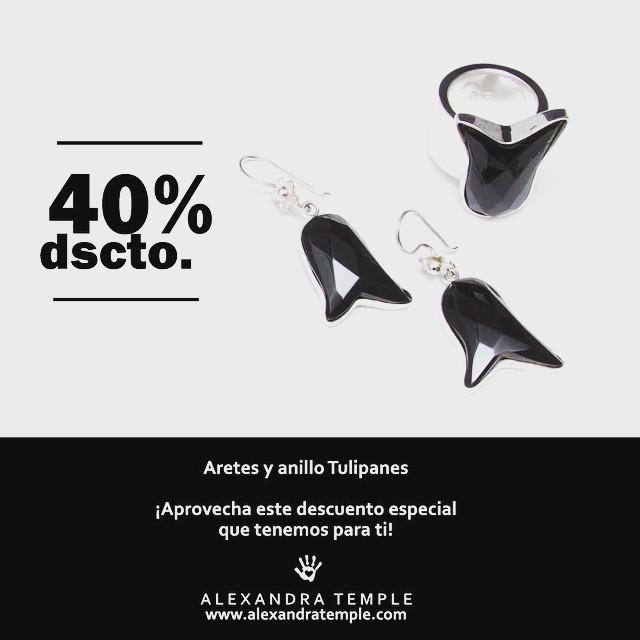 Promoción - Aretes y anillos Tulipanes