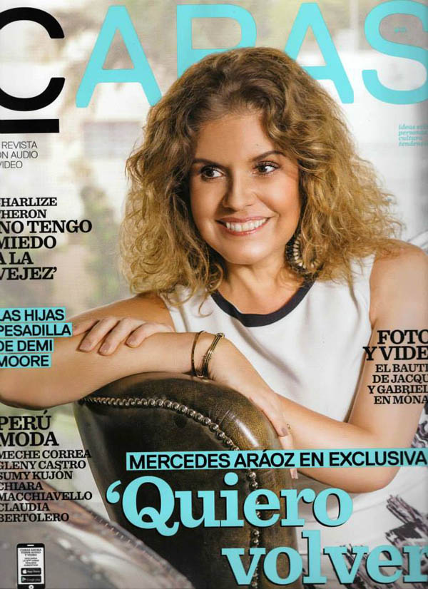 Portada revista Caras - coleccion de joyas en plata peruana