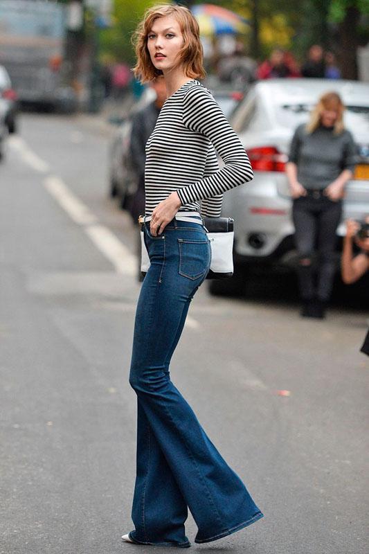 70s flared jeans - moda primavera verano