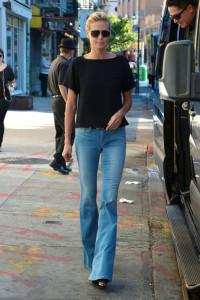 heidi klum flared jeans - moda primavera verano