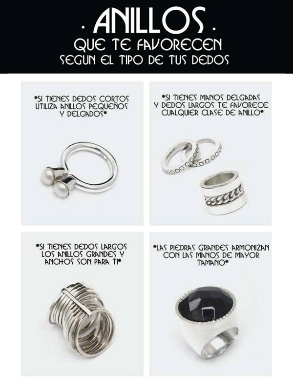 infografia - anillos de plata que te favorecen segun tu tipo de dedo