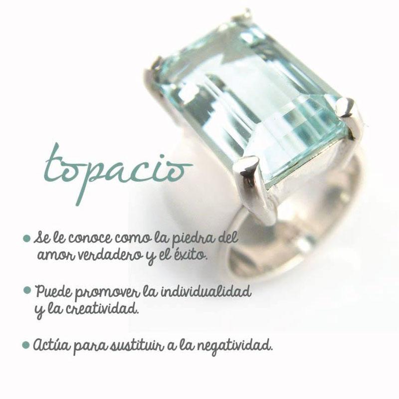 topacio - joyas en plata peruana