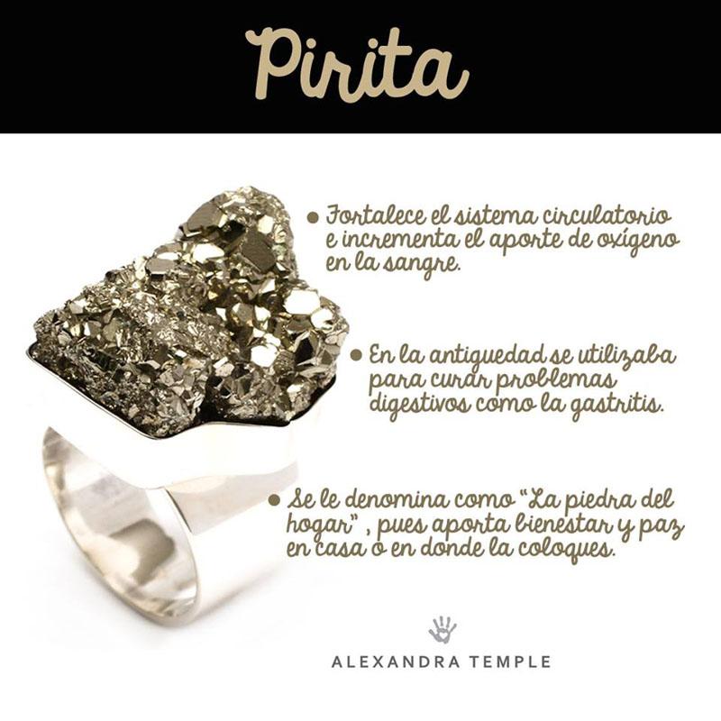 infografia - piedra pirita
