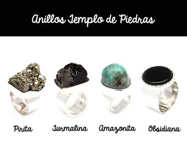 anillos de plata - coleccion templo de piedras