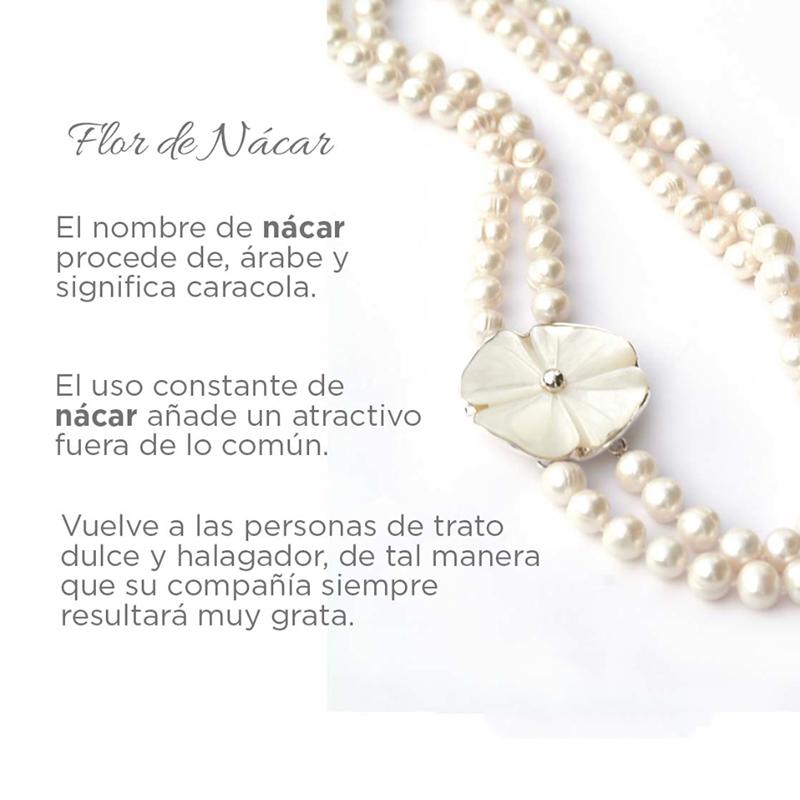 infografia - flor de nacar - joyas de plata