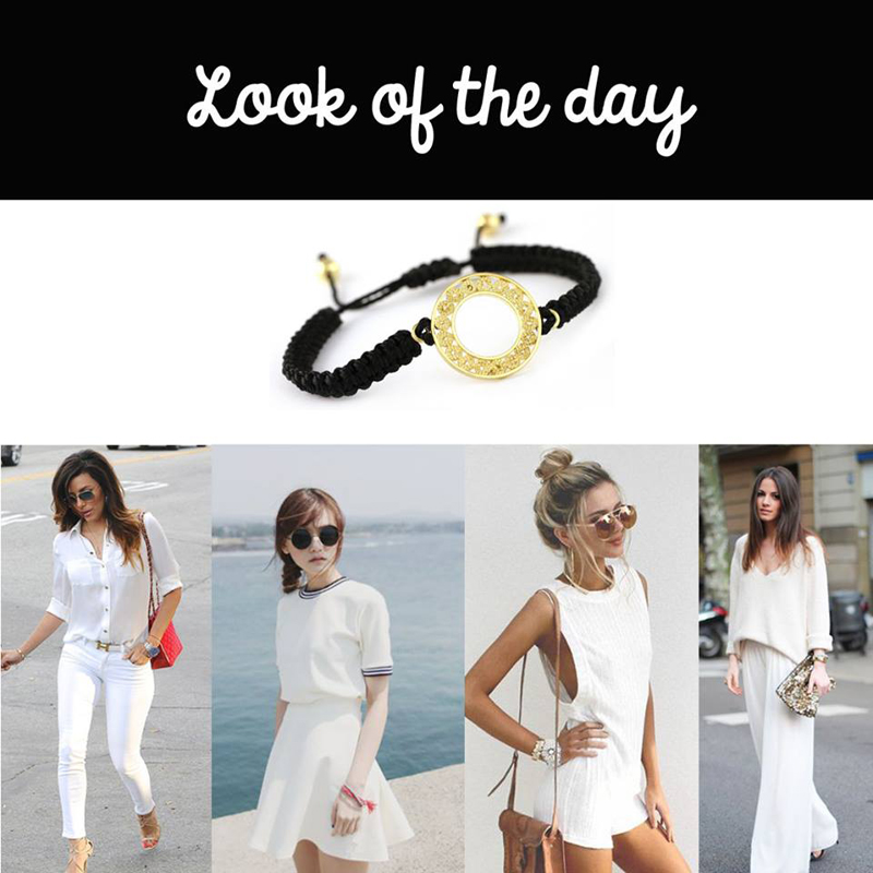 look of the day - blanco y dorado