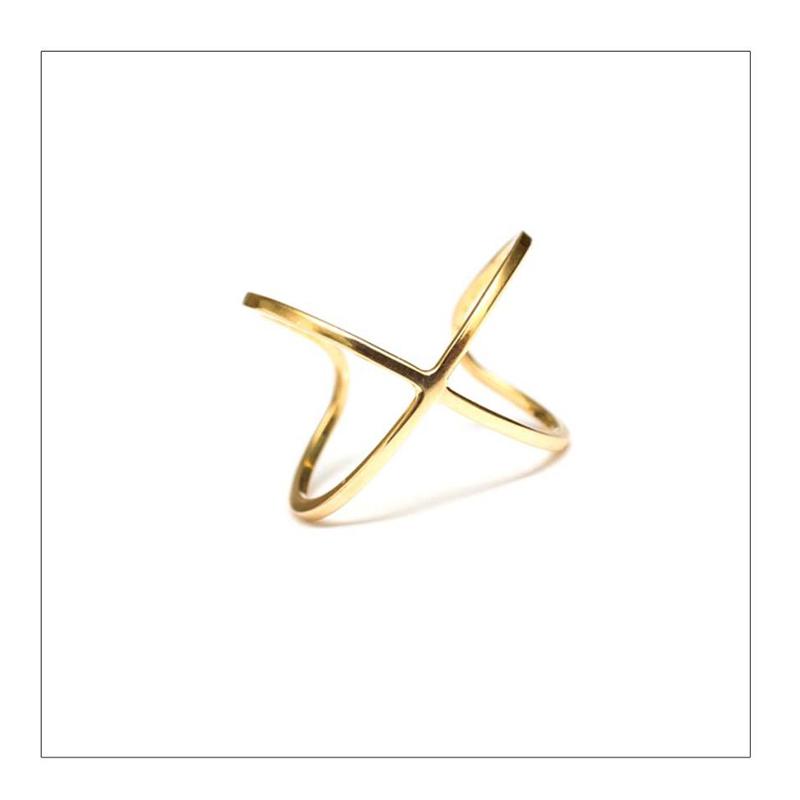 anillo x - oro 18k