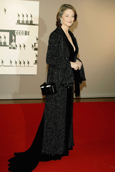 MONTE CARLO, MONACO - DECEMBER 18: Actress Charlotte Rampling poses as she arrives to attend the Nijinsky Awards Ceremony at The Monaco Dance Forum on December 18, 2004  in Monte Carlo, Monaco. Previous winners include Lucia Lacarra and Vladimir Malakhov in 2002 and Sylvie Guillem and Manuel Legris in 2000. (Photo by Pascal Le Segretain/Getty Images)