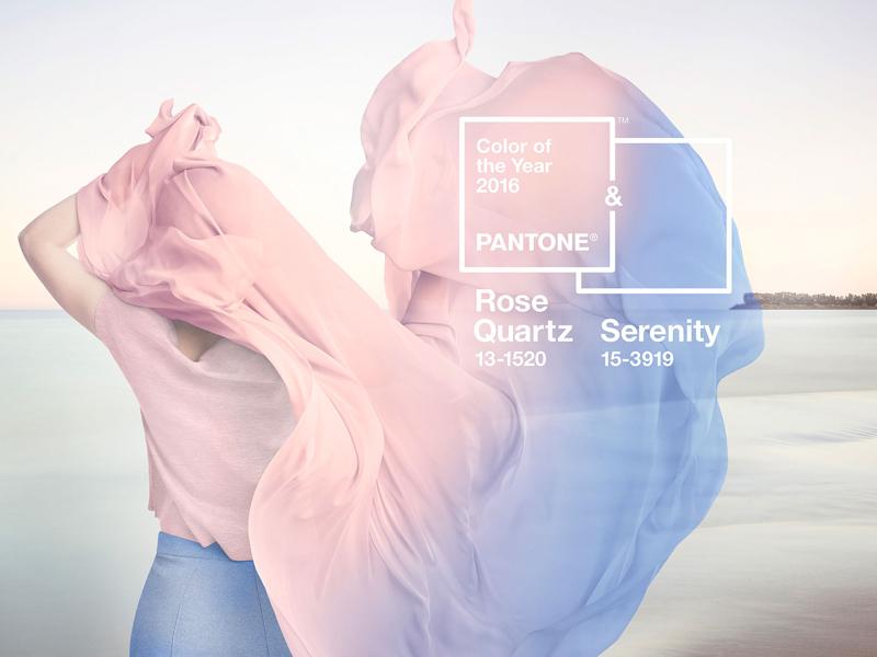 PANTONE - Color del 2016, rosa cuarzo y serenity