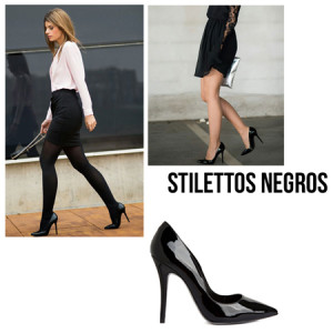 stilettos negros - 7 prendas basicas