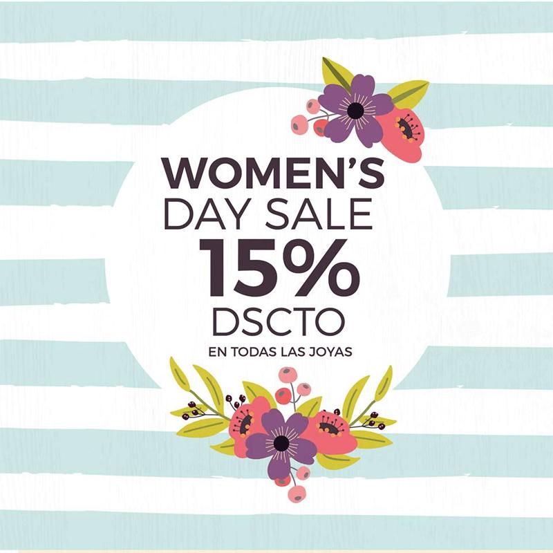 dia de la mujer - descuento 15%
