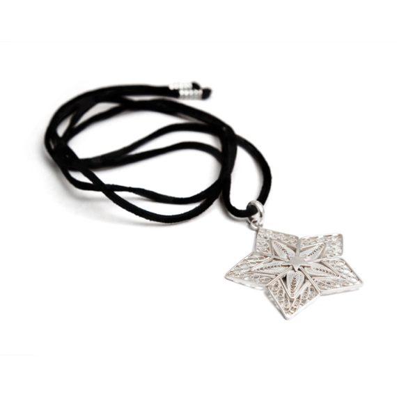 Collar Constelaciones Estrella de Filigrana
