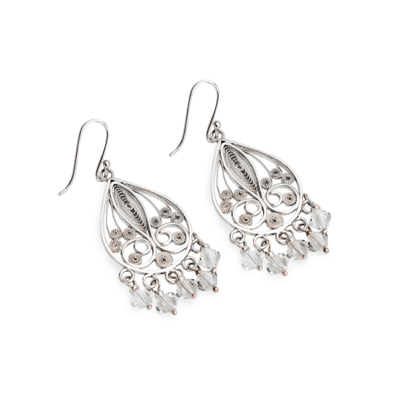 Aretes Chandelier Filigrana