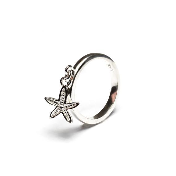 Anillo Estrella de Mar Colgante