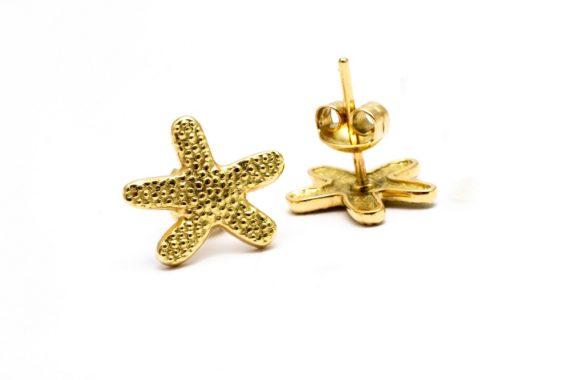 aretes estrella de mar bañados
