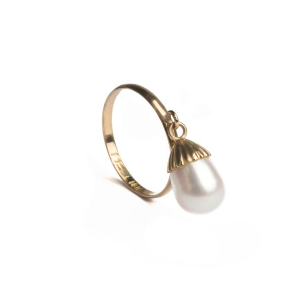 Perla colgante oro 18kt
