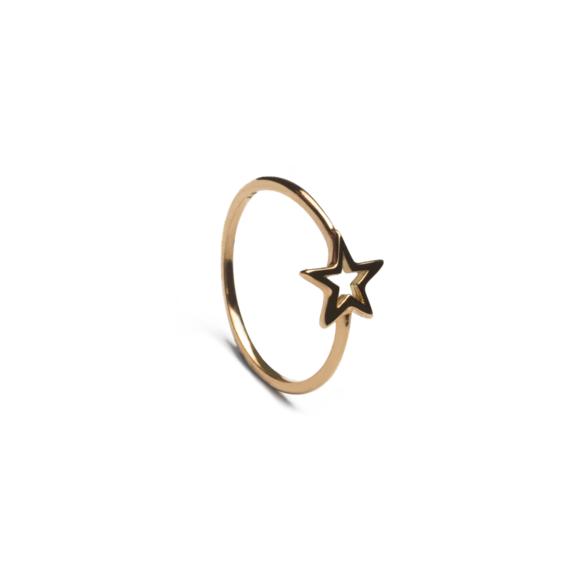 anillo estrella calada